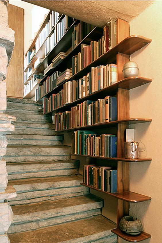 16 Innovative Ways To Line Your Stairs With Bookshelves