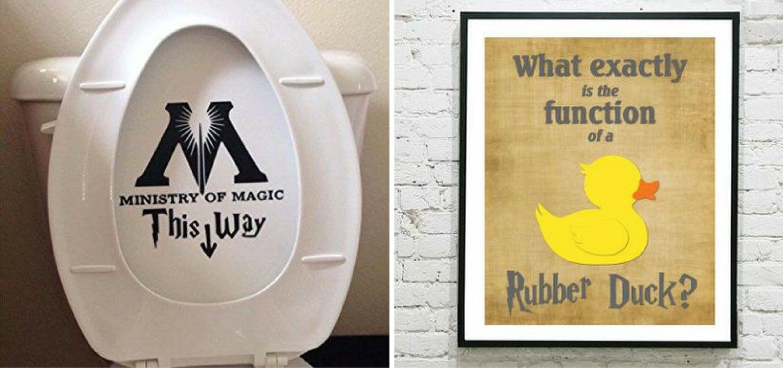 14 Ingenious Harry Potter Inspired Bathrooms